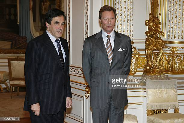 Grand Duke Henri of Luxembourg, French Prime Minister Francois Fillon in Luxembourg, Luxembourg on January 25th, 2008.