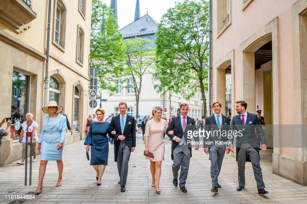 Grand Duke Henri of Luxembourg, Grand Duchess Maria Teresa of Luxembourg, Hereditary Grand Duke Guillaume of Luxembourg, Hereditary Grand Duchess...