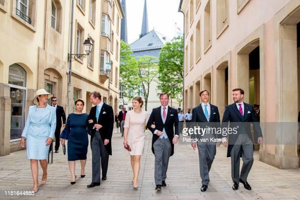 Grand Duke Henri of Luxembourg, Grand Duchess Maria Teresa of Luxembourg, Hereditary Grand Duke Guillaume of Luxembourg, Hereditary Grand Duchess...