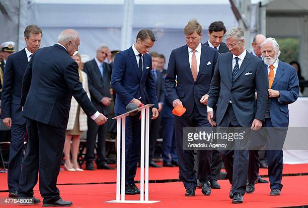 Grand Duke Henri of Luxembourg King WillemAlexander of The Netherlands King Philippe of Belgium and Prince Edward of Kent attend the commemorations...