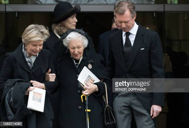 Grand Duke Henri of Luxembourg pictured after the funeral service for Count Philippe de Lannoy at FrasnesLezAnvaing Wednesday 16 January 2019 The...
