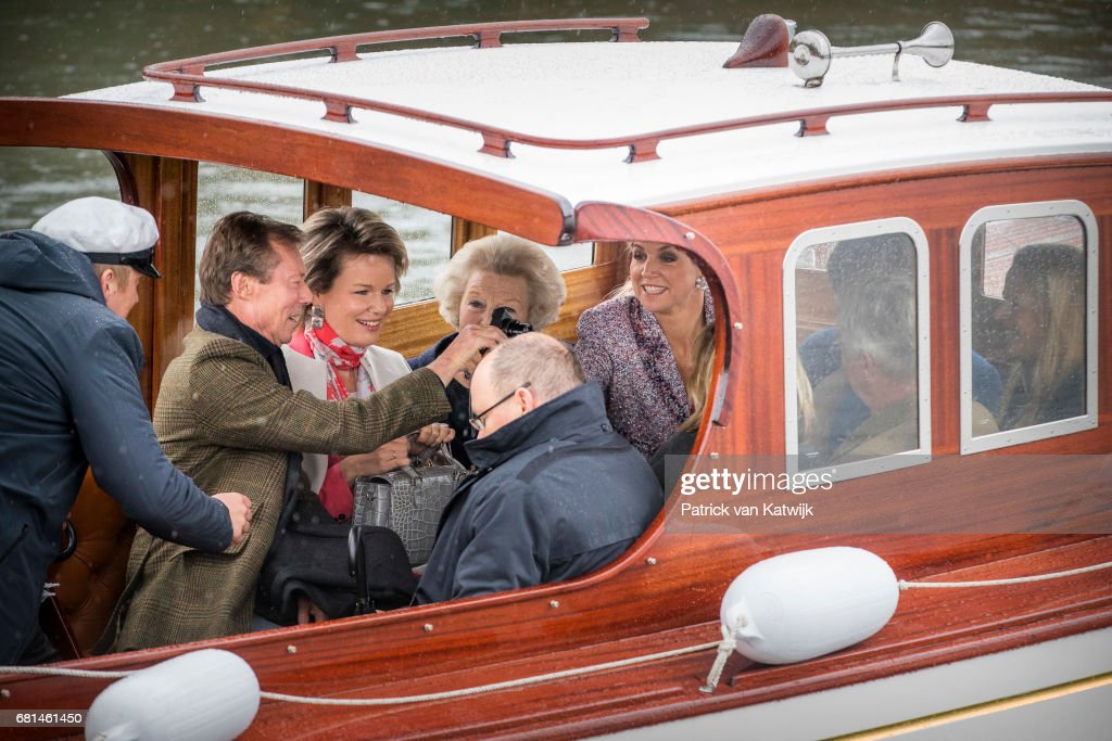 King and Queen Of Norway Celebrate Their 80th Birthdays - Lunch on the Royal Yacht - Day 2 : Nieuwsfoto's