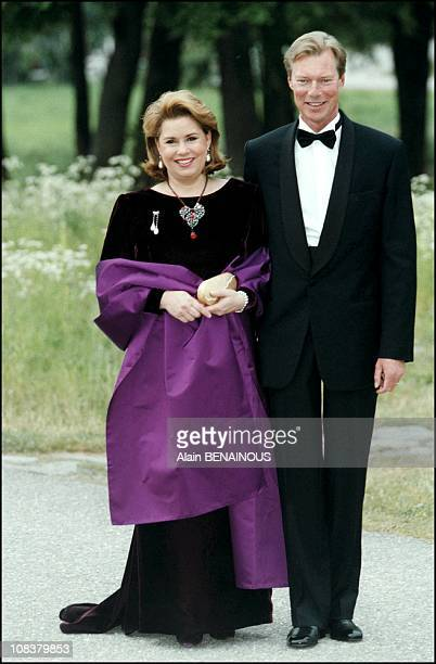 Grand Duke Henri of Luxemburg and wife Maria Teresa in Sweden on June 18 2001