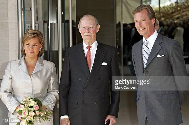 Grand Duke Jean Attends The Silver Wedding Anniversary Celebrations Of Grand Duke Henri Grand Duchess MariaTheresa Of LuxembourgLunch Reception At...