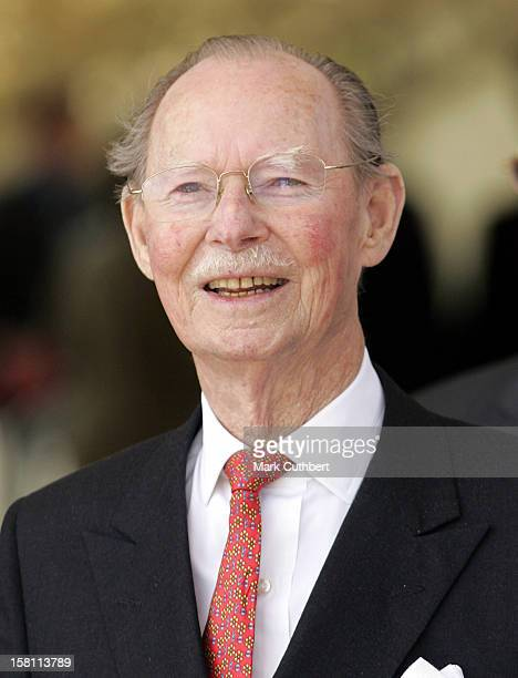 Grand Duke Jean Attends The Silver Wedding Anniversary Celebrations Of Grand Duke Henri Grand Duchess MariaTheresa Of LuxembourgLunch Reception At...