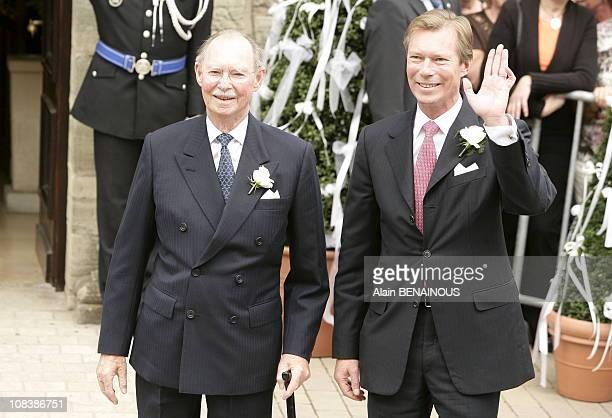 Grand Duke Jean of Luxembourg and Grand Duke Henri of Luxembourg in Luxembourg on September 29 2006