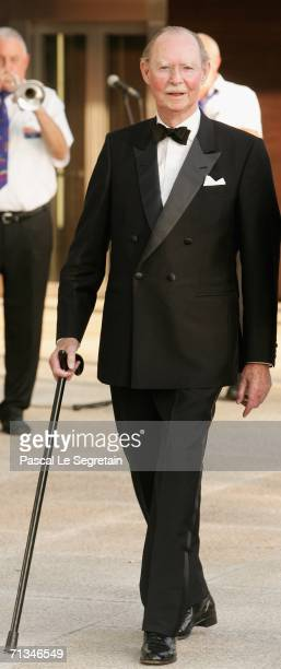 Grand Duke Jean of Luxembourg arrives at the Grand Theater to attend a special performance on June 30 2006 in Luxembourg as part of the Grand Duke...