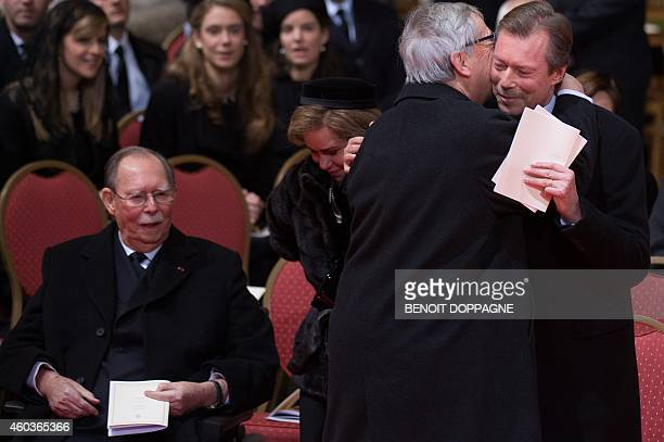 Grand Duke Jean of Luxembourg Grand Duchess Maria Teresa of Luxembourg European Commission President Jean Claude Juncker and Grand Duke Henri of...