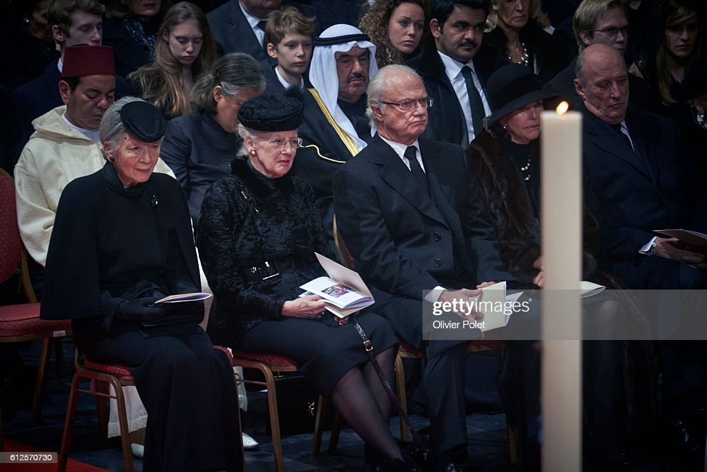 FABIOLA FUNERAL CATHEDRAL ST MICHE IN BRUSSELS : News Photo