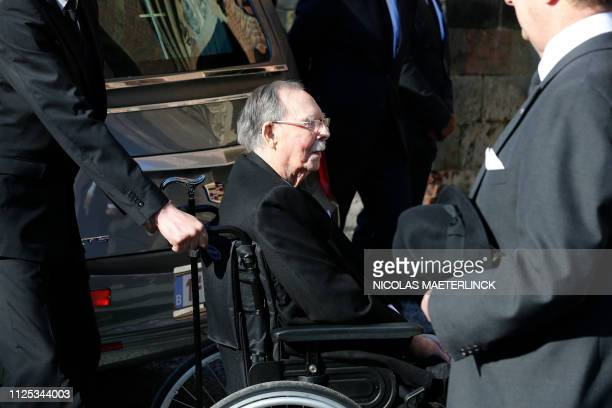 Grand Duke Jean of Luxembourg pictured during the funeral service for Princess Alix of Luxembourg at the SaintPierre church in Beloeil Saturday 16...