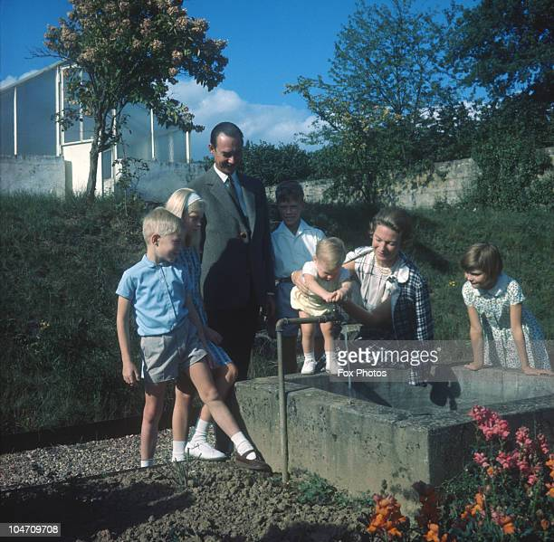 Grand Duke Jean Of Luxembourg with his wife JosephineCharlotte of Belgium and their children Prince Jean Princess Marie Astrid and Prince Henri...