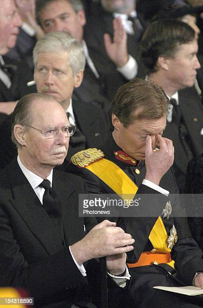 Grand Duke Jean of Luxemburg at the funeral of his wife Grand Duchess Josephine Charlotte She died at the age of 77