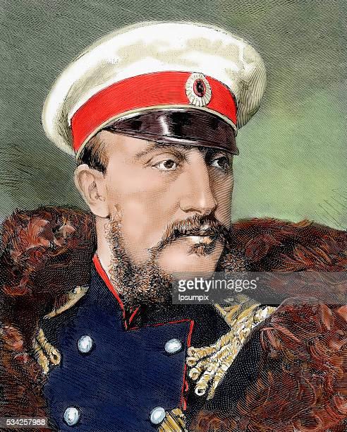 Grand Duke Konstantin Nikolayevich of Russia Colored engraving