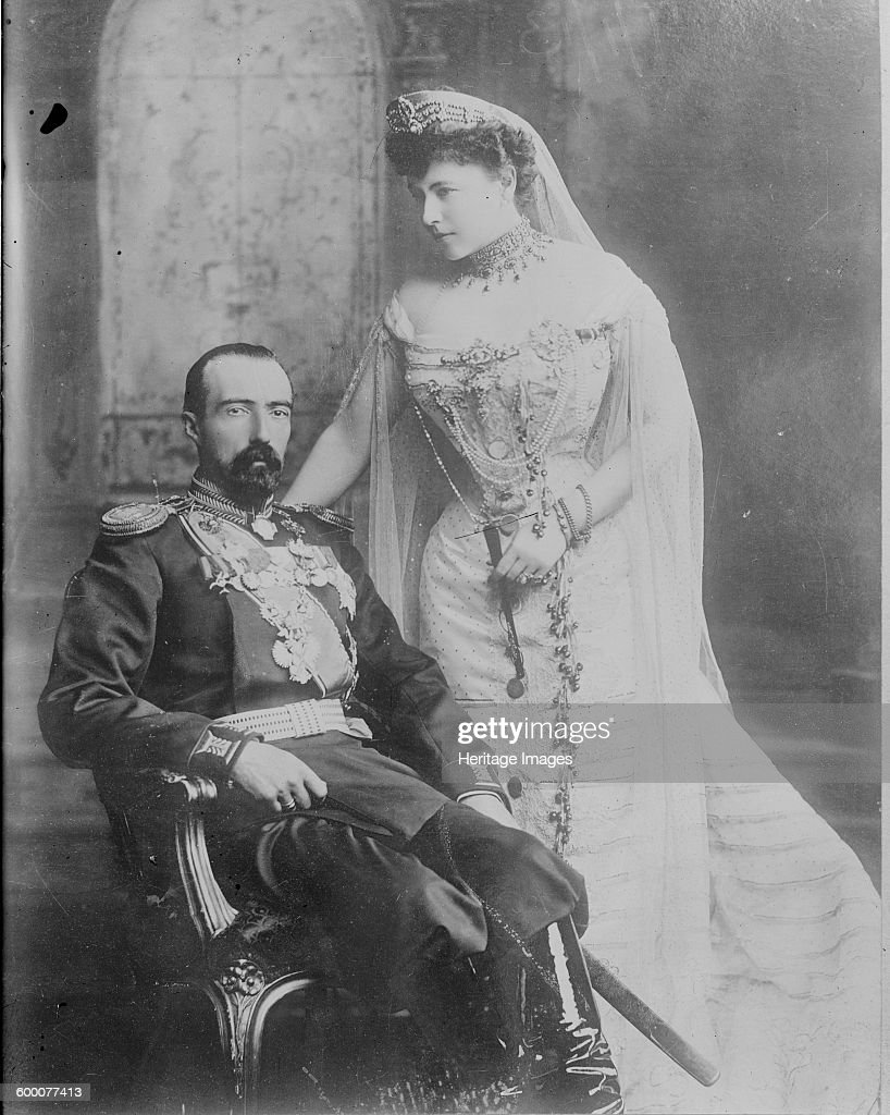 Grand Duke Michael Mikhailovich of Russia and his wife Countess Sophie de Torby, 1902 : News Photo