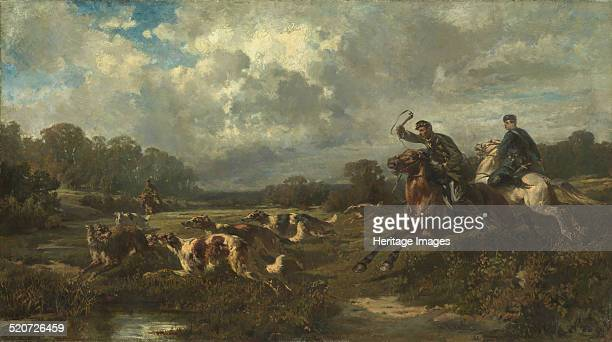 Grand Duke Vladimir Alexandrovich of Russia on a Wolf Hunt Private Collection