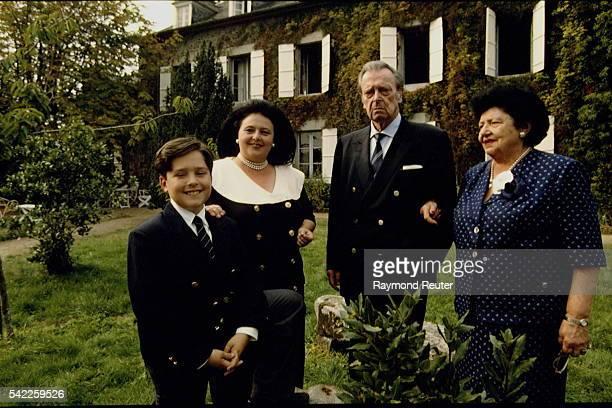 Grand Duke Vladimir Grand Duchess Leonida their daughter Maria and grandson Prince Georg