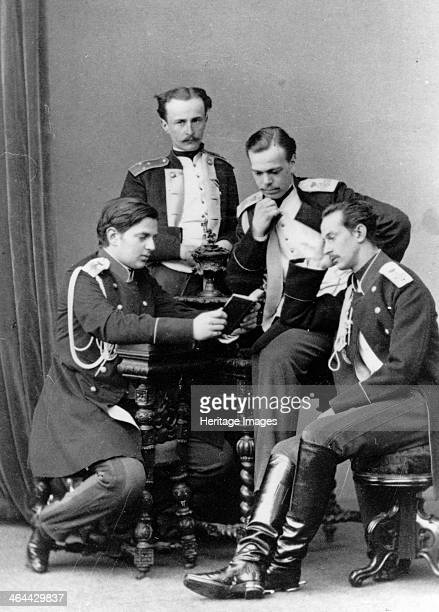 Grand Dukes Alexander Alexandrovich and Vladimir Alexandrovich of Russia c1870c1875 The future Tsar Alexander III with his younger brother Grand Duke...