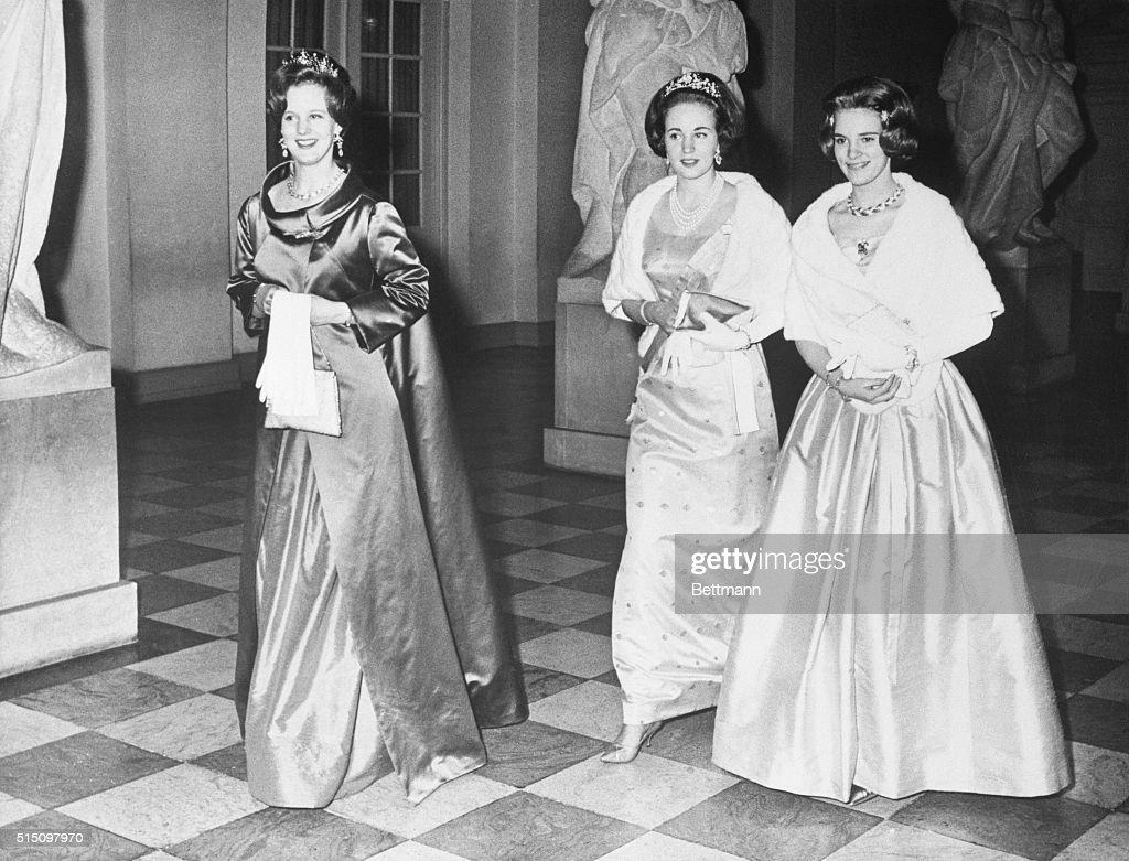 Danish Princesses in Evening Dress : News Photo