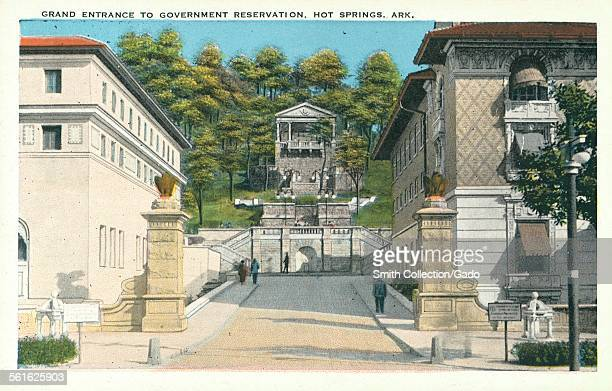 Grand Entrance to Government Reservation Hot Springs Arkansas 1926