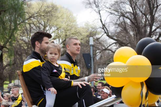 afl grand final parade - melbourne - afl stock pictures, royalty-free photos & images