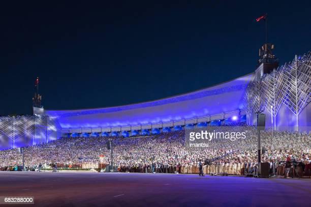 grand finale-concert - letland stockfoto's en -beelden
