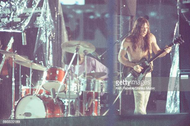 Grand Funk Railroad legendary live at Korakuen Stadium hit by torrential rain, Tokyo, July 17, 1971.