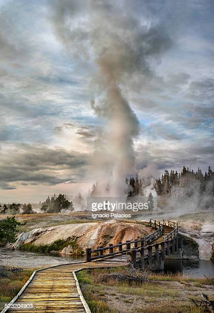 Grand Geyser eruption, Old Faithful Yellowstone