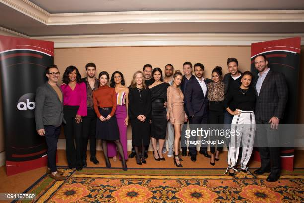 TOUR Grand Hotel Session The cast and executive producers of Walt Disney Television via Getty Images's Grand Hotel addressed the press at the 2019...
