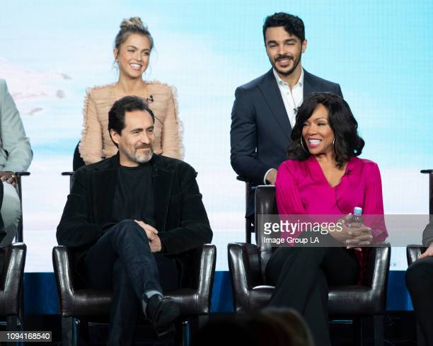 TOUR 'Grand Hotel' Session The cast and executive producers of ABC's 'Grand Hotel' addressed the press at the 2019 TCA Winter Press Tour at The...