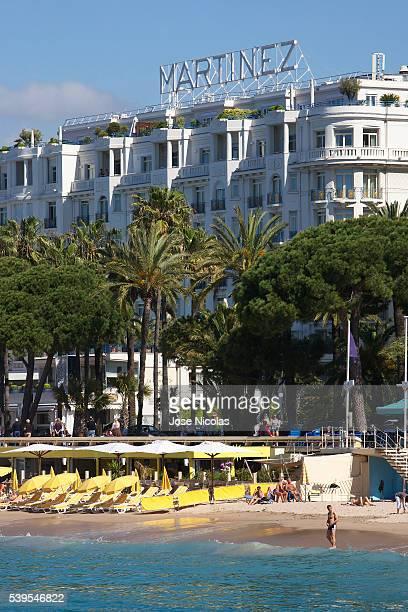 grand hyatt cannes hotel martinez stock photos and