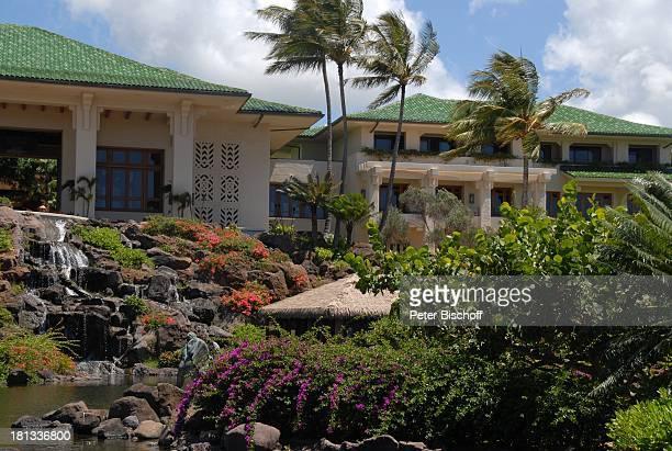 Grand Hyatt-Hotel, Kauai, Hawaiian Island, Insel, Süd-Pazifik, Poipu-Beach, Busch, Palme, Palmen, Garten, Gebäude, Natur, Reise, TP, DIG;P-Nr.:...
