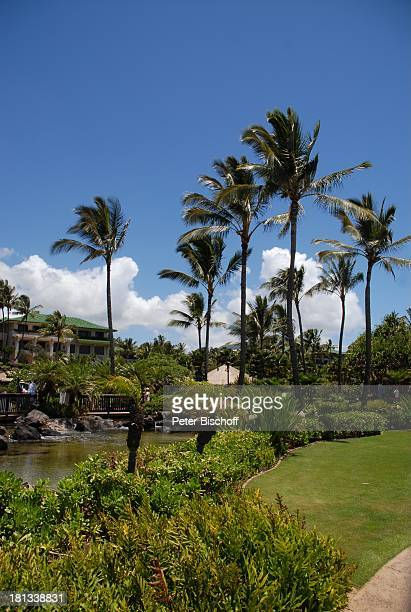 Grand Hyatt-Hotel, Kauai, Hawaiian Island, Insel, Süd-Pazifik, Poipu-Beach, Palme, Palmen, Meer, Ausblick, Wasser, Natur, Reise, TP, DIG;P-Nr.:...