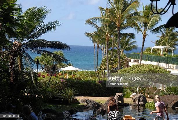 Grand Hyatt-Hotel, Kauai, Hawaiian Island, Insel, Süd-Pazifik, Poipu-Beach, Palme, Natur, Palmen, Pool, Meer, Ausblick, Reise, TP, DIG;P-Nr.:...