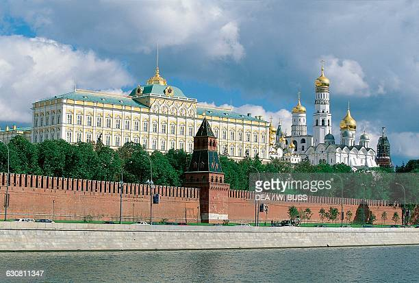 Grand Kremlin Palace , by Konstantin Ton , and Ivan the Great bell tower, 1505-1508, by Marco Bono, Moscow Kremlin . Russia, 16th century.