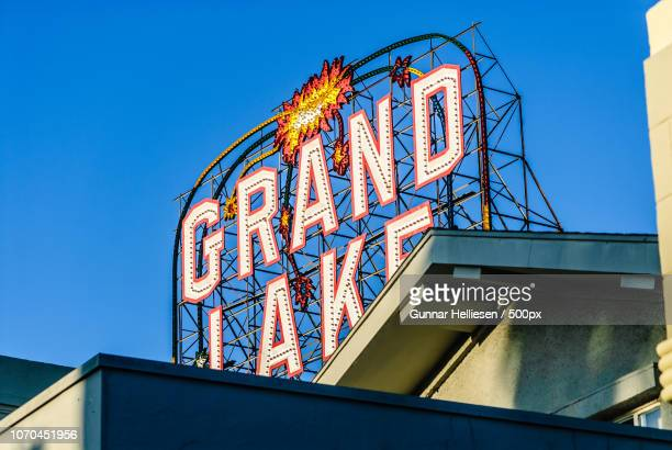 grand lake theater, revisited - gunnar helliesen stock pictures, royalty-free photos & images