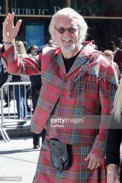 Grand Marshal Billy Connolly and Family during the New York City Tartan Day Parades in New York on April 6 2019