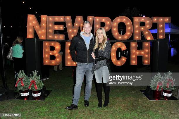 Grand Marshal Christina Anstead and Ant Anstead attend the 111th Annual Newport Beach Christmas Boat Parade opening night at Marina Park on December...