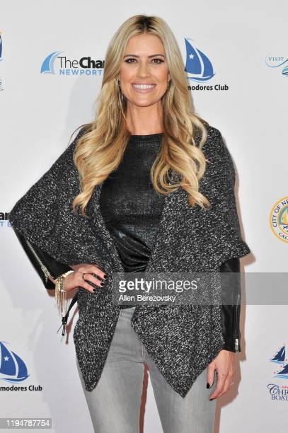 Grand Marshal Christina Anstead attends the 111th Annual Newport Beach Christmas Boat Parade opening night at Marina Park on December 18, 2019 in...