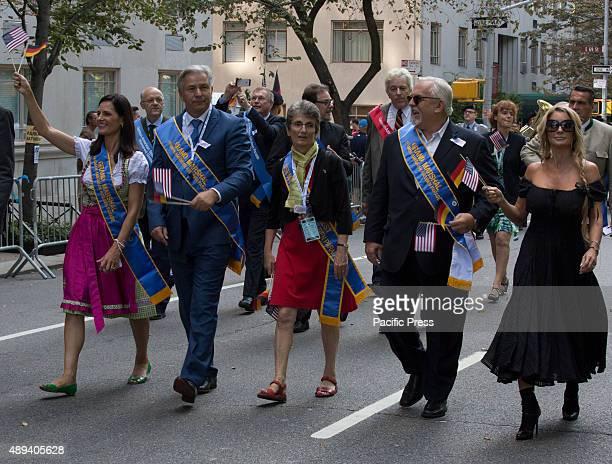 Grand Marshal Klaus Wowereit ExGoverning Mayor of Berlin Contessa Brewer Emmy awardwinning television news anchor Actor and Grand Marshel John...