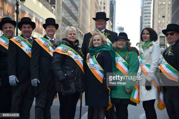 Grand Marshal Loretta Brennan Glucksman attends the 2018 New York City St Patrick's Day Parade on March 17 2018 in New York City