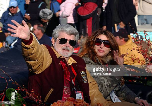 Grand Marshall George Lucas with daughter Amanda at the Colorado St John in Pasadena California