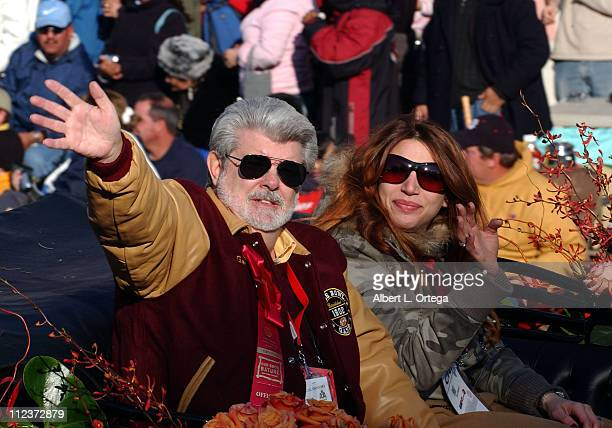 Grand Marshall George Lucas with daughter Amanda during The 118th Rose Parade Our Good Nature at Colorado St John in Pasadena California United States