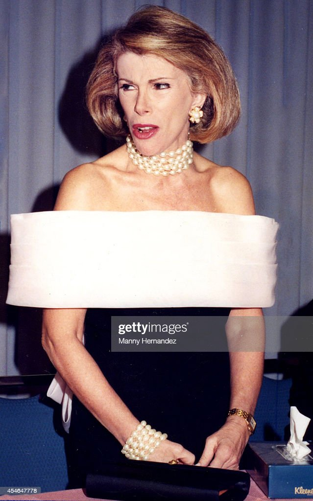 Grand Marshall Joan Rivers at the Winterfest Boat Parade on December 12, 1991 in Ft. Lauderdale, Florida.