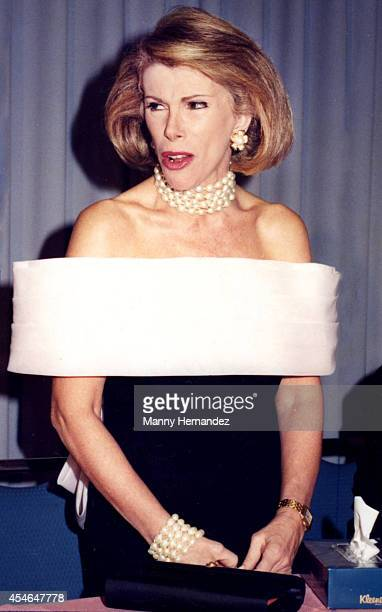 Grand Marshall Joan Rivers at the Winterfest Boat Parade on December 12 1991 in Ft Lauderdale Florida