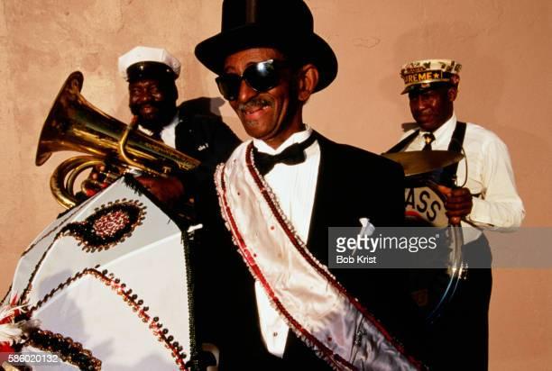 grand marshall of new orleans brass band - ブラスバンド ストックフォトと画像