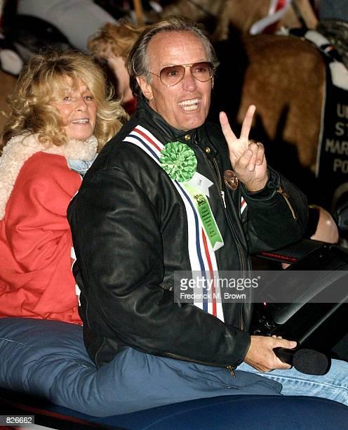 Grand Marshall Peter Fonda attends the 70th Anniversary Hollywood Christmas Parade November 25, 2001 in Los Angeles, CA.