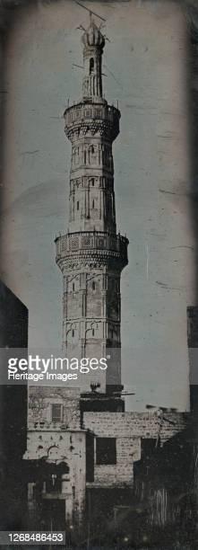 Grand Minaret, Alexandria, 1842. Artist Joseph Philibert Girault De Prangey.