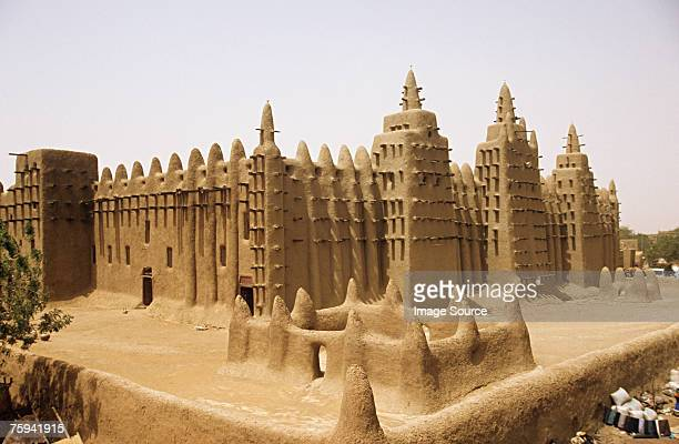 grand mosque djenne - mali stock pictures, royalty-free photos & images
