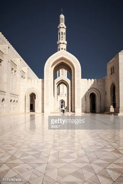 grand mosque muscat, sultanate of oman - sultan qaboos mosque stock pictures, royalty-free photos & images