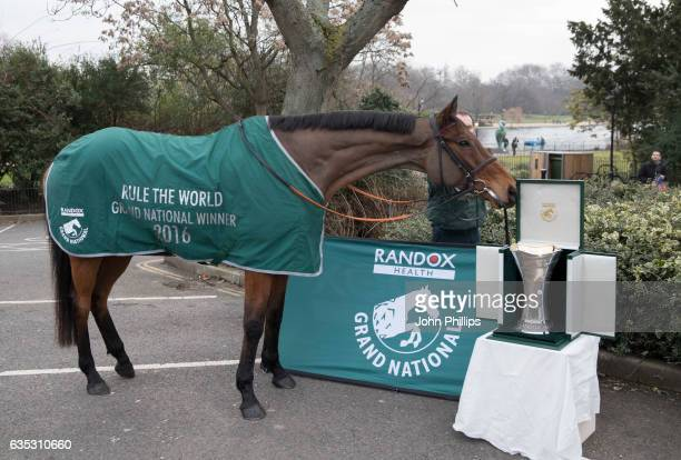 Grand National winner Rule The World with the new Randox Health Grand National trophy on his way from Ireland to The Victoria Albert Museum in London...